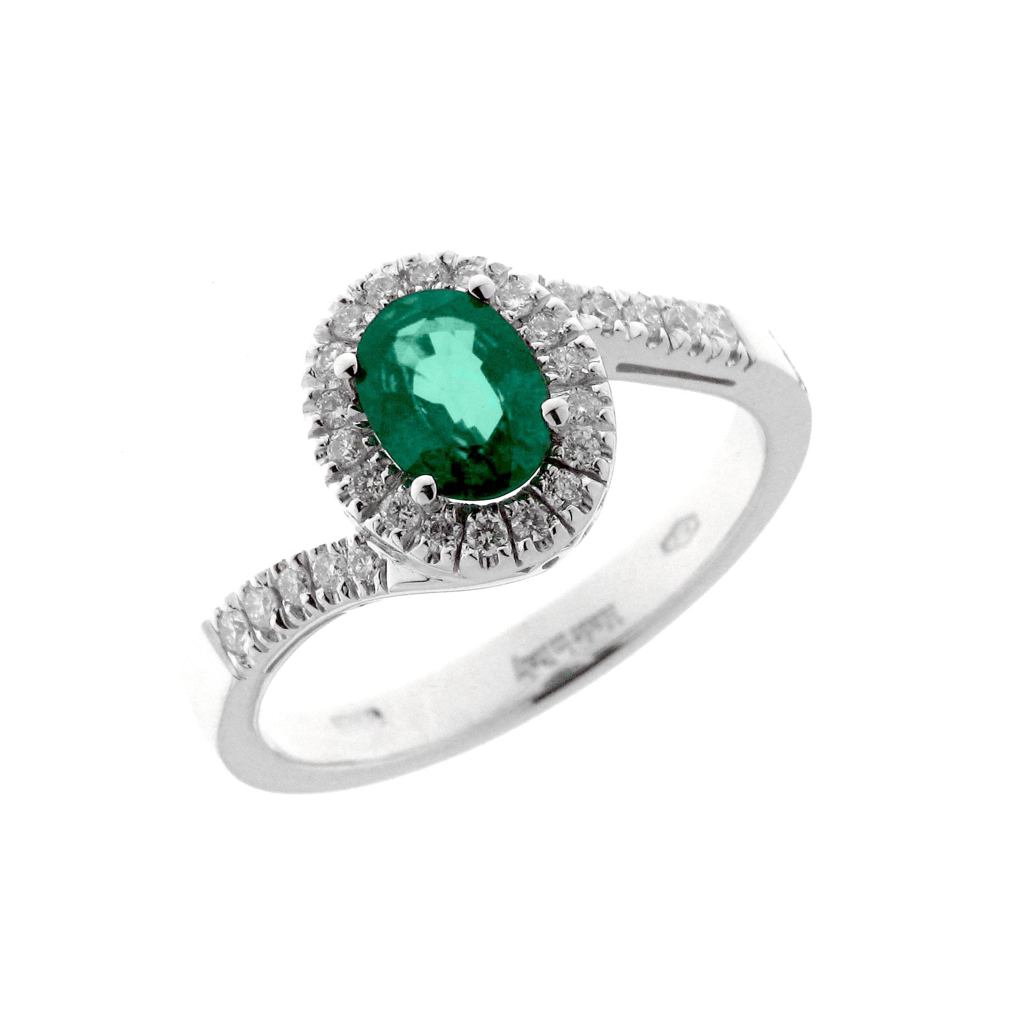 Diamonds ct 0,18 Emerald ct 0,50