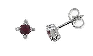 Diamonds ct 0,08 Ruby ct 0,44