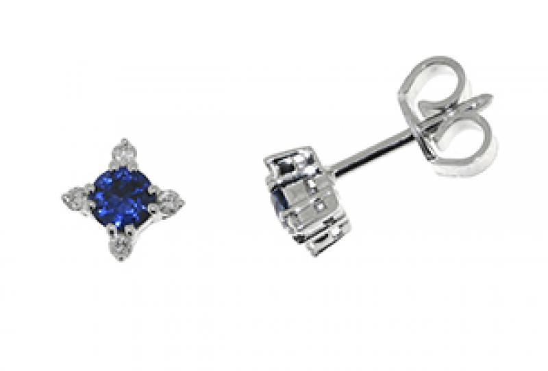 Diamonds ct 0,08 Sapphire ct 0,40